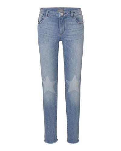 Chloe Skinny Jeans w/ Contrast Knee Stars  Size 2-6