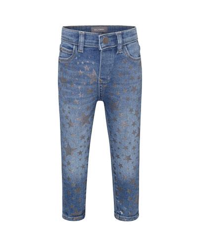 Sophie Metallic Star Print Skinny Jeans  Size 12-24 Months