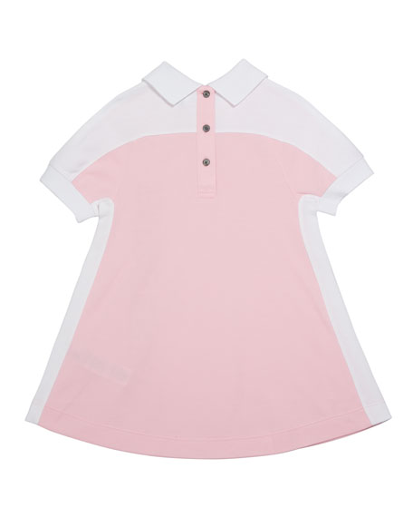 Burberry Girl's Stacey Short-Sleeve Logo Polo Dress, Size 3-14