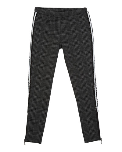 Girl's Houndstooth Sequin Leggings  Size S-XL