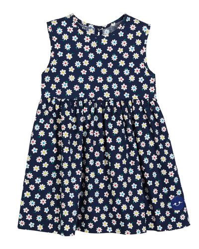 Flower Power Sleeveless Dress, Size 0m-10