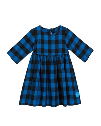 Flannel Buffalo Check Dress, Size 18m-10