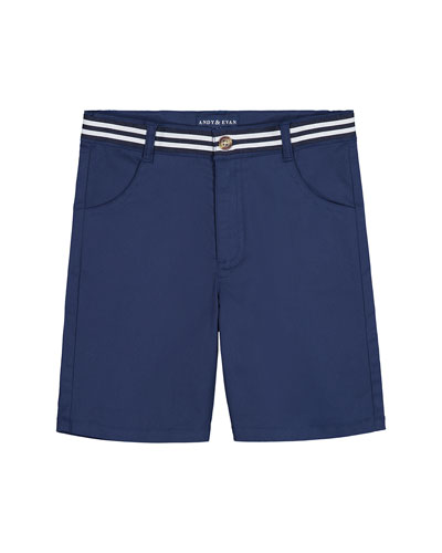 Mock Belted Twill Shorts  Size 8-14