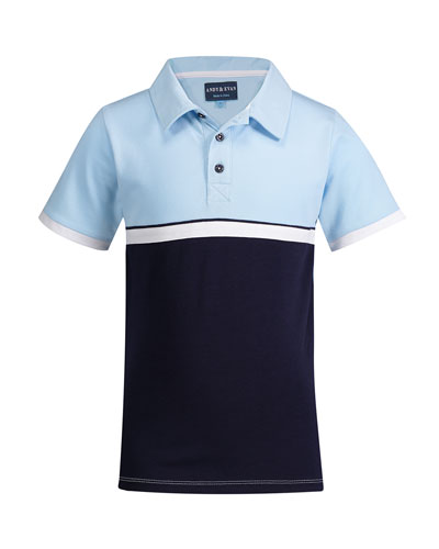 Colorblock Short-Sleeve Polo Shirt  Size 8-14