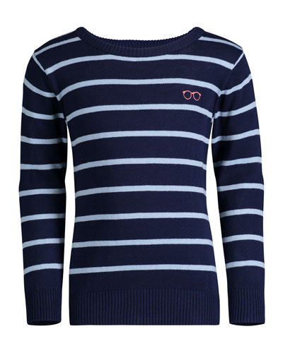 Striped Cotton Sweater  Size 8-14