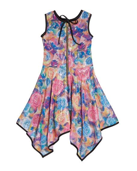 Zoe Poppy Sequin Chiffon Dress, Size 7-16