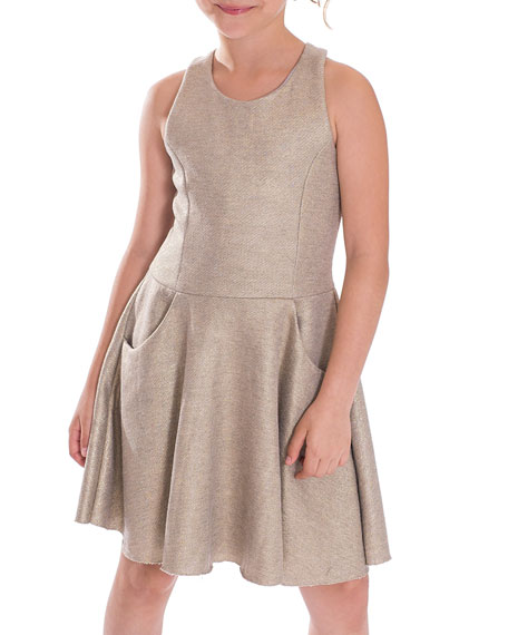 Zoe Last Dance Foil-Print Dress, Size 7-16