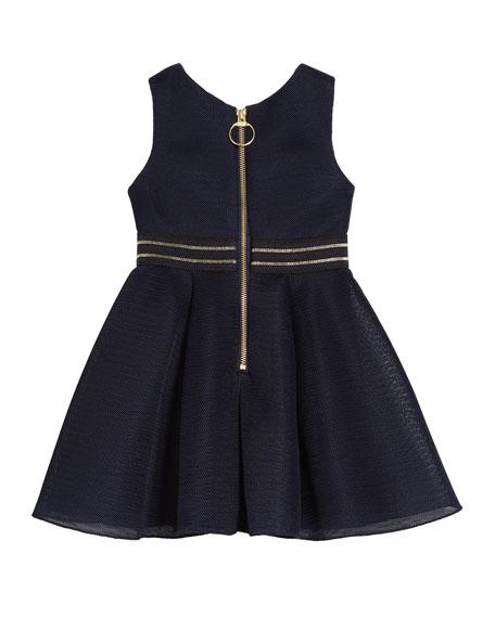Zoe Hey Girl Perforated Knit Sleeveless Dress, Size 4-6X
