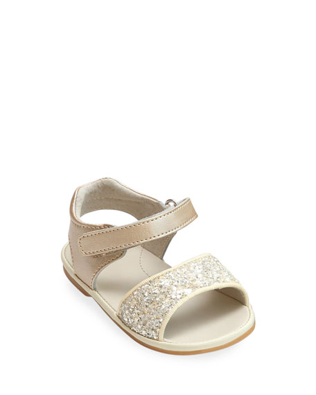L'Amour Shoes Elise Glittered Open-Toe Sandals, Baby/Toddler