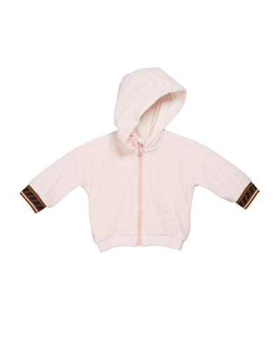 Girl's Zip-Up Hooded Jacket w/ FF Cuffs  Size 12-24 Months