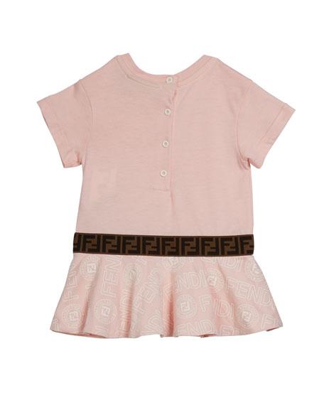 Fendi Girl's Logo Print Short-Sleeve Dress, Size 12-24 Months
