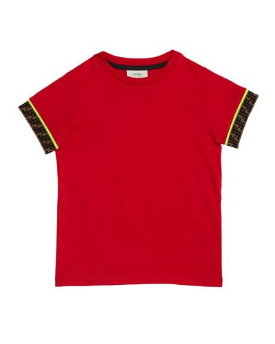 Boy's Short-Sleeve T-Shirt w/ Logo Taping  Size 10-14