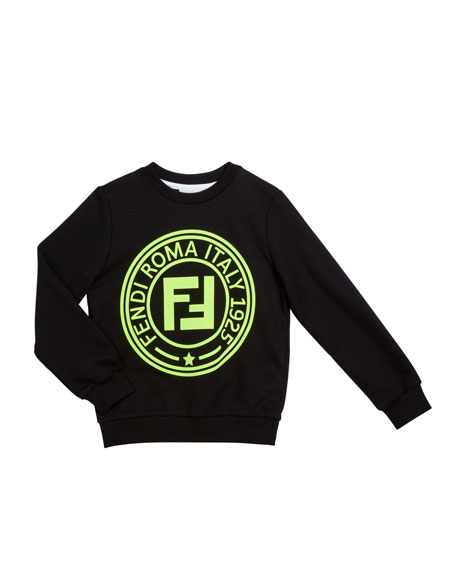 Fendi Kid's Logo Sweatshirt, Size 4-14