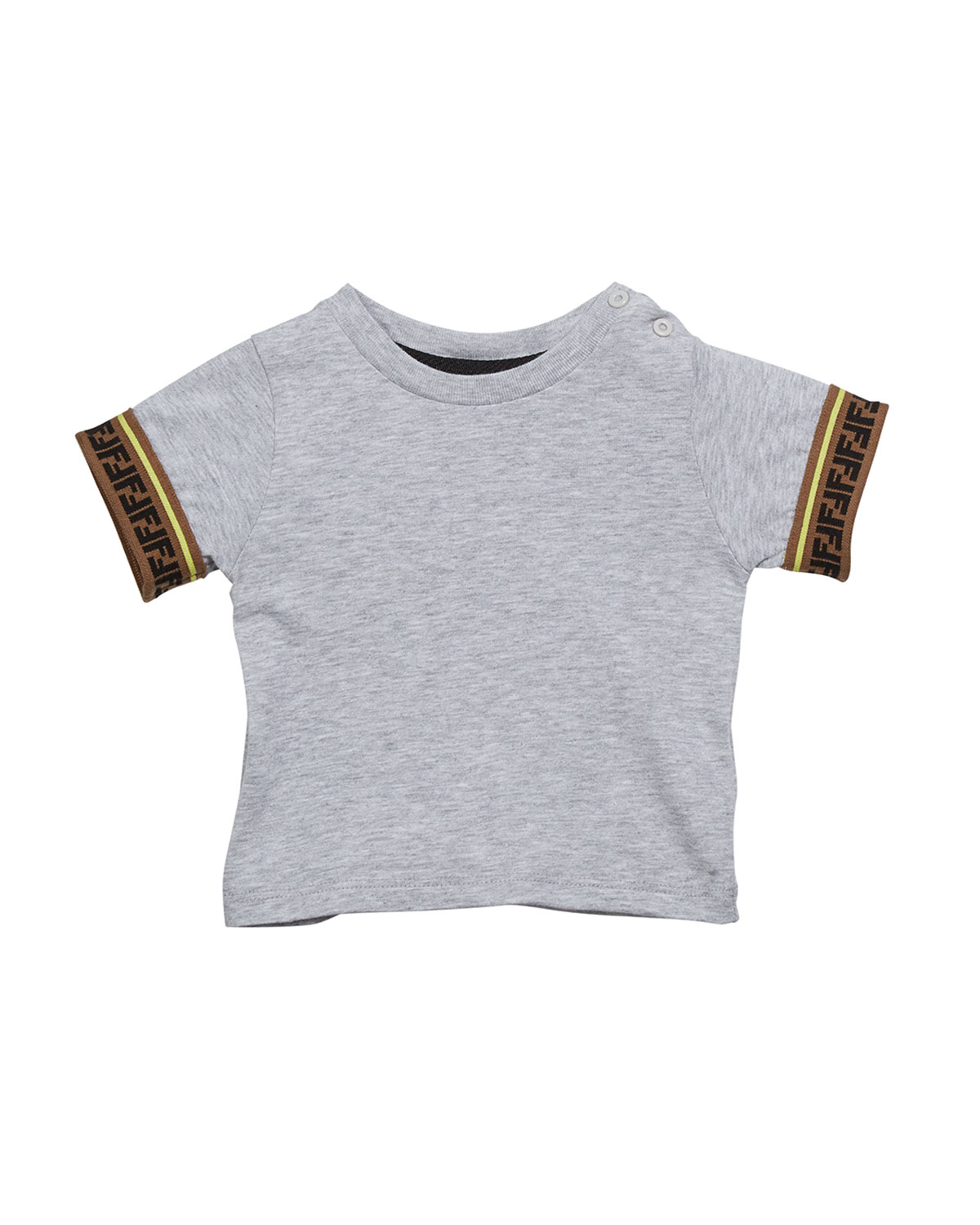 Boy's Short Sleeve T Shirt W/ Ff Taping, Size 12 24 Months by Fendi