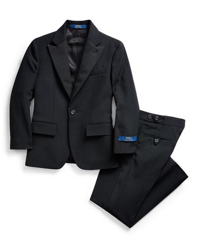 Boy's Barathea Wool Two-Piece Tuxedo Suit  Size 5-7