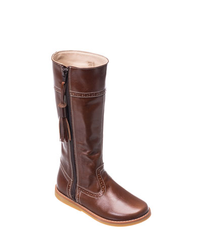 Girl's Leather Riding Boots  Kids