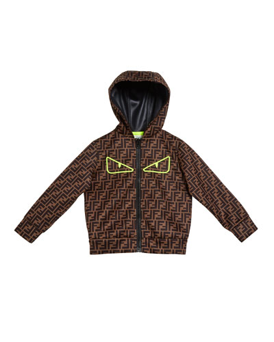 FF Print Monster Eyes Hooded Jacket  Size 10-14