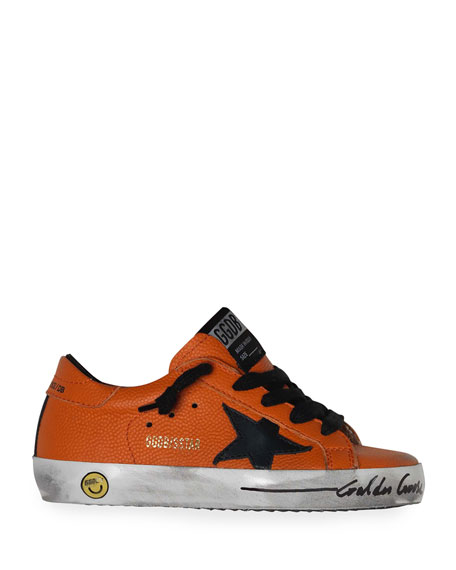 Golden Goose Boy's Basketball Leather Superstar Sneakers, Toddler/Kids