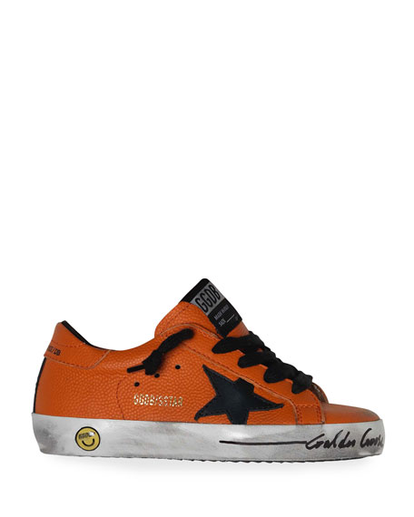 Golden Goose Boy's Basketball Leather Superstar Sneakers, Baby/Toddler