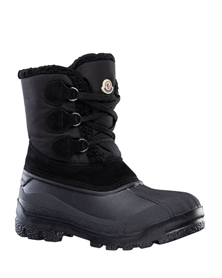Moncler Christian Faux Sherpa Lined Snow Boots, Toddler/Kids