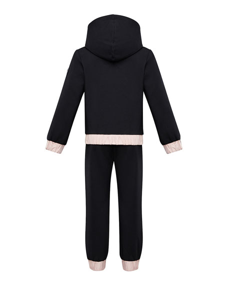 Moncler Contrast-Trim Hoodie w/ Matching Sweatpants, Size 8-14