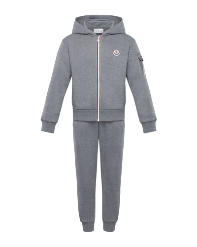 Tricolor-Zip Hoodie w/ Matching Sweatpants  Size 8-14