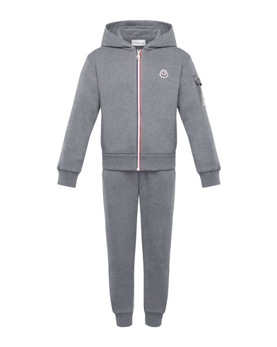 Tricolor-Zip Hoodie w/ Matching Sweatpants  Size 4-6