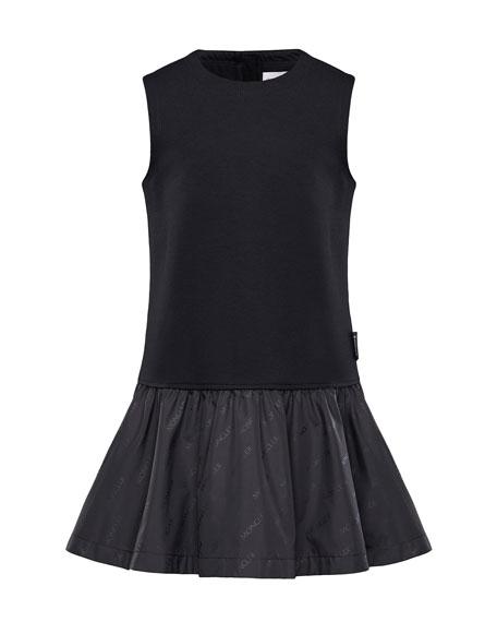 Moncler Fit-&-Flare Logo Dress, Size 4-6