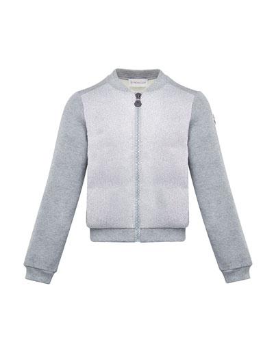Contrast-Front Zip Cardigan  Size 4-6