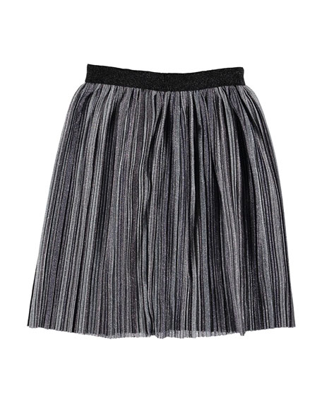 Molo Girl's Bailini Pleated Lurex Skirt, Size 3T-16