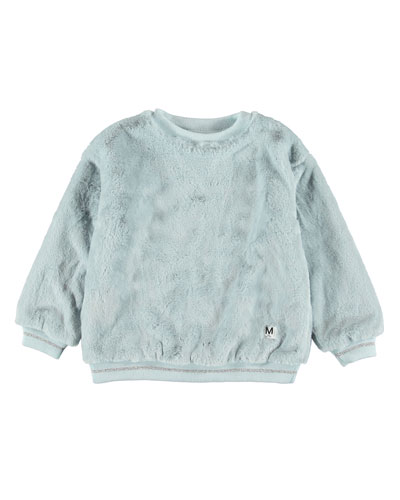 Girl's Mariana Faux Fur Sweatshirt, Size 4-14