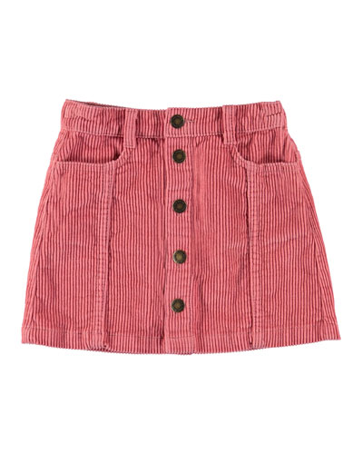 Girl's Bera Button Front Corduroy Skirt  Size 3T-16