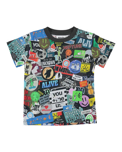 Boy's Road Sticker Print Tee, Size 4-12