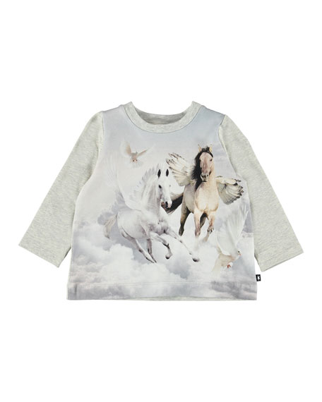 Molo Ebby Winged Horse Print Tee, Size 6-24 Months