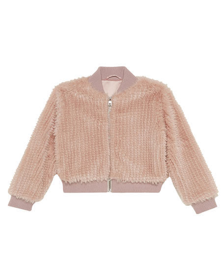 Bardot Junior Girl's Eve Faux Fur Bomber Jacket, Size 8-16