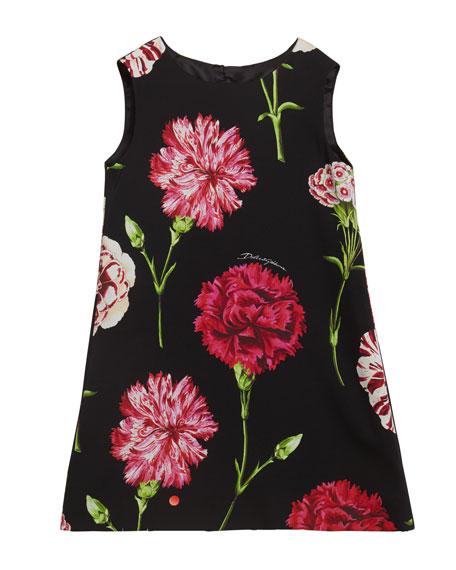 Dolce & Gabbana GIRL'S SLEEVELESS FLORAL DRESS