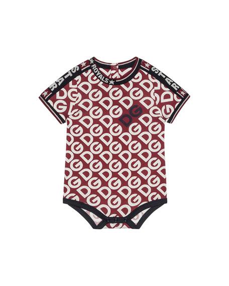 Dolce & Gabbana Kid's DG Print Bodysuit, Size 6-30 Months