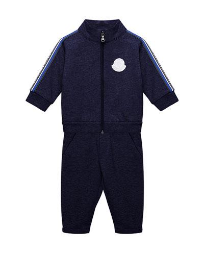 Side-Stripe Jacket w/ Matching Sweatpants  Size 12M-3