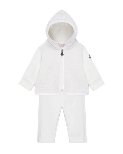 Wool-Blend Zip Hoodie w/ Matching Sweatpants  Size 6M-3
