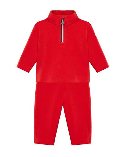 Half-Zip Jacket w/ Matching Sweatpants  Size 6M-3