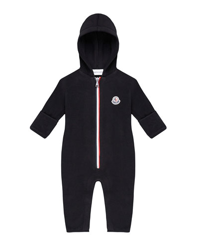 Tricolor Zip-Up Hooded Coverall  Size 6-24 Months