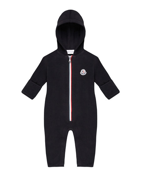 Moncler Tricolor Zip-Up Hooded Coverall, Size 6-24 Months