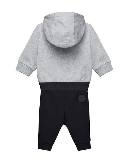 Moncler Zip-Up Hoodie w/ Matching Sweatpants, Size 12M-3