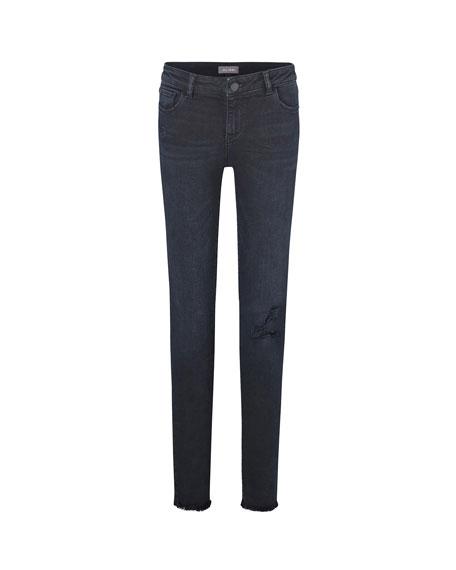 DL1961 Premium Denim Girl's Chloe Skinny Distressed Denim Jeans, Size 7-16
