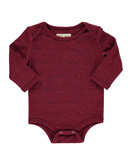 Me & Henry Heathered Long-Sleeve Bodysuit w/ Children's Book, Size 0-24 Months