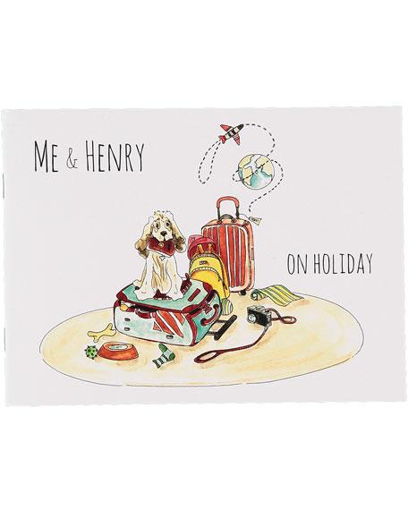 Me & Henry Striped Spread Collar Bodysuit w/ Children's Book, Size 0-24 Months