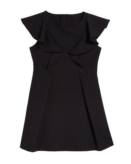 Milly Minis Short-Sleeve Ponte Ruffle Dress, Size 7-16