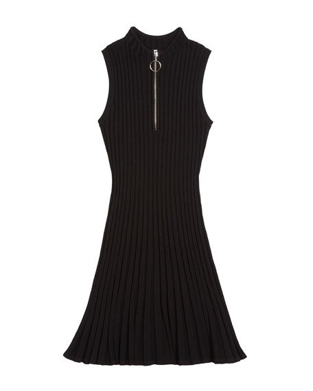 Milly Minis Zipped Flare Dress, Size 7-16