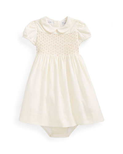 Pinwale Corduroy Shirred Dress w/ Bloomers