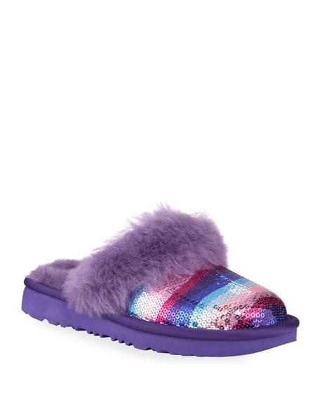 UGG Cozy II Rainbow Printed Sequin Slippers, Toddler/Kids